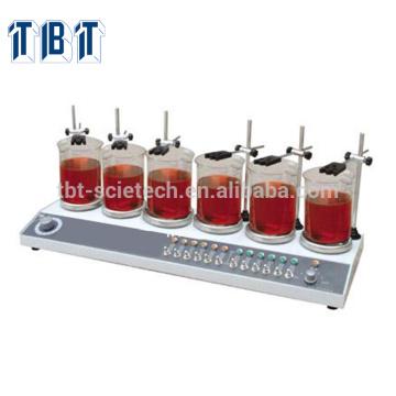 T-BOTA HJ-6A Multi-unité Thermostatique Six têtes Affichage numérique Agitateur Magnétique Plaque chauffante Agitateur