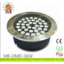 Luz do jardim do quadrado de 36W diodo emissor de luz subterrânea / Inground