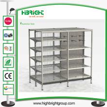 Oceania Style Storage Gondola Shelving para tiendas de comestibles y tiendas