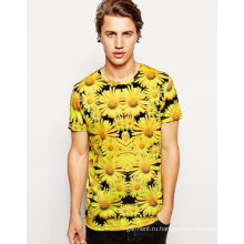 2016 Китай OEM моды самый дешевый сублимации печати сухая Fit мужская футболка