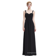 Starzz Sweetheart Sleeveless Black Chiffon Evening dress Long ST000065-1