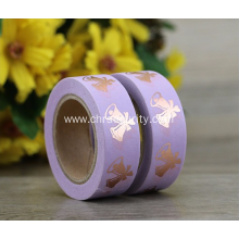 Lavender sticker roll custom printed reflective tape