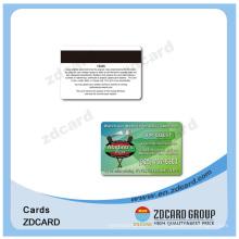 Cartes de visite transparentes de PVC NFC en plastique