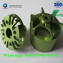 Shell de aluminio pequeño del motor con la superficie de la capa del polvo