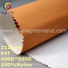 Tela grossa lisa de Oxford do tafetá de nylon impermeável para o vestuário (GLLML284)