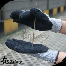 SRSAFETY 13 калибровочных трикотажных латекса с латексными защитными перчатками, защитные рабочие перчатки с лучшим качеством