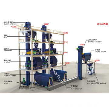 Granulating machine include Cage-type pulverizer capacity 3-12t/h