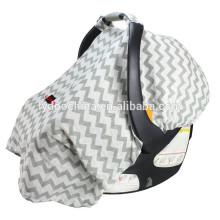 100% cotton chevron Mulit-use nursing baby car seat cover