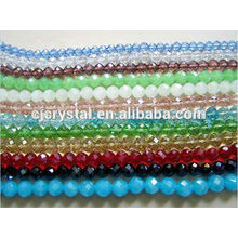 Redondo contas de vidro para jóias de várias cores, contas de vidro redondas