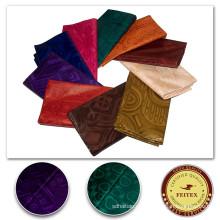 Tela africana barata Bazin Riche Material de la ropa hecha a mano Tela de la tela Tela de algodón nigeriana Textiles de algodón