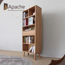 Manufacturer directly supply wooden book display rack for Promotion