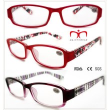 Ladies Plastic Reading Glasses with Colorful Painting (WRP508334)