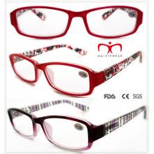 Senhoras óculos de leitura plástica com pintura colorida (wrp508334)