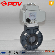 plastic wafer motorized pvc butterfly valve