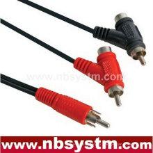 1 fiche RCA mâle à 2 connecteurs RCA câble mâle femelle