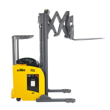Xilin Capacity 1000kgs 2200lbs max.lift height 6.5m with double scissors Electric Fork Reach Truck