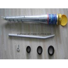 Perfuração helicoidal de parafuso de aterramento