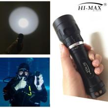 Meilleure vente 100m imperméable à l'eau led xhp 70 plongée lampe de poche