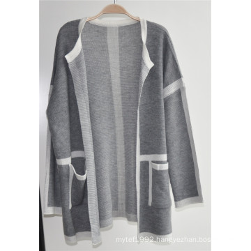 100%Acrylic Open Knit Women Cardigan with Button