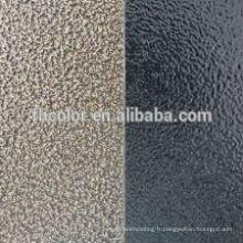 Revêtement en poudre à peinture par pulvérisation en métal martelé