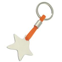 Porte-clés en forme d'étoile en alliage de zinc avec silicone (F1077A)