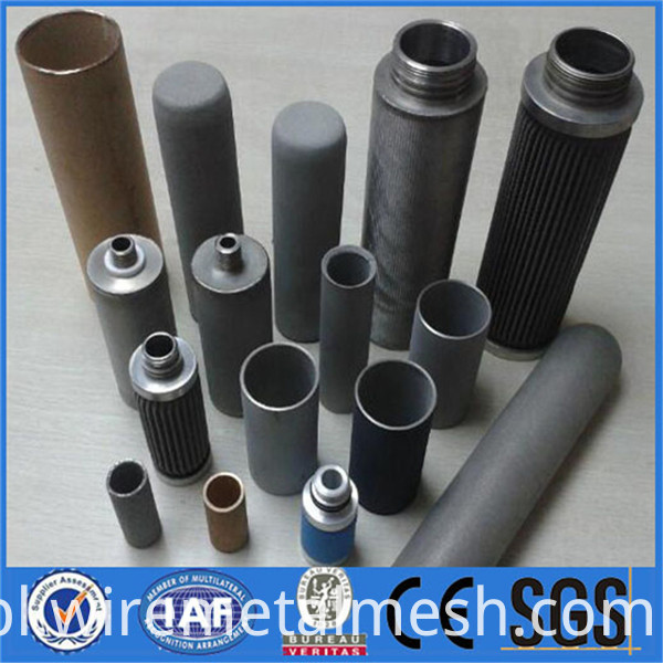 High porosity Corrosion resistance metal filter element