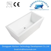 Stand alone rectangular bathtub