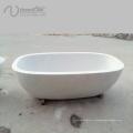 белый мраморный камень ванна