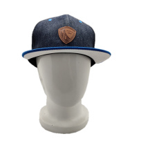 2019 fashion denim baseball cap läder etikett