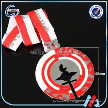 Evento de esportes personalizado medalha de ginástica / futebol / hóquei twirling natação