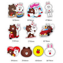 Cute Shaped Carton Plastic Sheet Printing Die Cut Sticker Sheet Custom Foam Stickers,Kids Cartoon Stickers