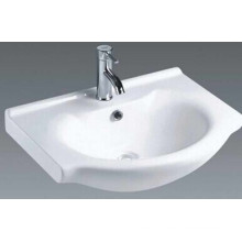 Sanitary Ware Top Mounted Ceramic Bathroom Wash Basin (B850)