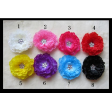 Hot Selling 8 Colors Peony Flower. Hair Flower Hair Accessory, Flower Hair Clip Accessories