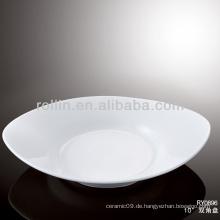 Schönes haltbares weißes Porzellan-Ofen sicheres Hotel-Geschirr