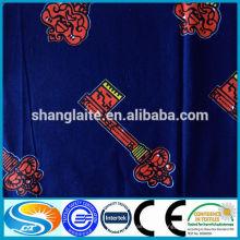 100% algodón oro o plata polvo añadido African Wax tela de impresión