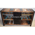 Recycled Wooden Industrila Drawer Tv Unit