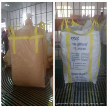 Fibc bulk bags stevedore strap , top fill skirt fibc bag, UN plastic big bag