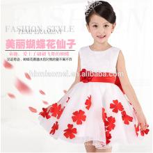 Robe de fille de fleur d'une seule pièce pour la fête et les enfants de mariage princesse florale première robe d'anniversaire pour bébé fille