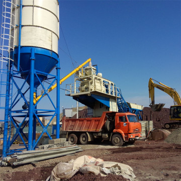 YHZS belt conveyor concrete batching plant