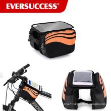 Sacs de cadre de vélo de contact d'écran de téléphone portable de sac à bandoulière avant supérieur 5,5 pouces