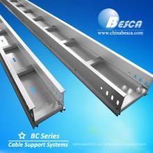 Aluminium AL Cable Tray com tampas de escadas Fabricante