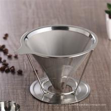 Промо 2 Чашки 4 Чашки Двойной Стены Из Нержавеющей Стали Воронка Набор Для Питья Кофе