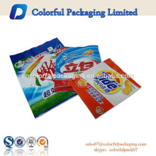 Plastic printed bags high quality washing powder packaging bag