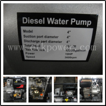 """4 """"Luftgekühlte Diesel Wasserpumpe Set"""