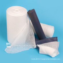 Rouleau de gaze absorbant médical 100% coton haute qualité