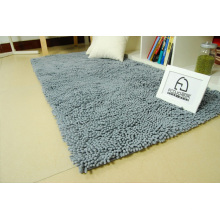 Gray Color Hand Made Chenille Carpet