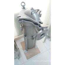 Cubierta de filtro de una sola bolsa para tratamiento líquido industrial