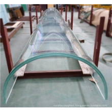 12mm frameless curtain wall tempered curved glass for sunroom