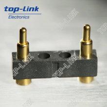 Federbelasteter Steckverbinder mit 2 Kontakten, Hochleistungs