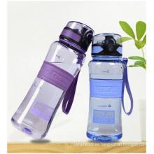 Vasos de plástico transparentes creativos con tapa, los estudiantes Vidrio de agua portátil puede ser Logo impreso